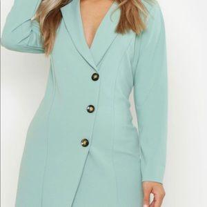 Plus Button Detail Blazer Dress 👗 ✨